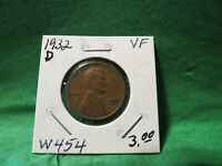 1932 LINCOLN WHEAT CENT LOT W454