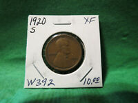 1920 S LINCOLN WHEAT CENT LOT W392