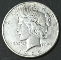1926-S PEACE DOLLAR .900 SILVER A BIT OF TONING