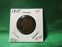 1915 LINCOLN WHEAT CENT LOT W161