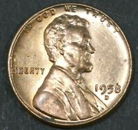 1958-D LINCOLN CENT PENNY BU WITH SOME  TONING   B16877