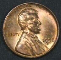 1958-D LINCOLN CENT PENNY BU WITH SOME  TONING   B16878
