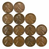 LOT OF 13 1932 D LINCOLN WHEAT CENT PENNIES VG WITH LIGHT BLEMISHES 155097