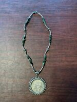 1881 O USA STERLING SILVER DOLLAR NECKLACE &1890 O COIN.