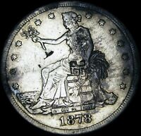 1878 S TRADE DOLLAR CHOP MARKS  TYPE COIN             A859