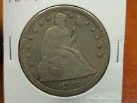 1842 SEATED LIBERTY SILVER DOLLAR $1  COIN