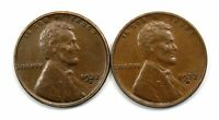 2 1932 D LINCOLN WHEAT CENT PENNIES AU/AU WITH FAULTS 155322