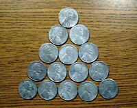 LOT OF 15 1943-S STEEL LINCOLN WHEAT CENT
