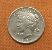 1921 KEY DATE PEACE SILVER DOLLAR $1 HIGH RELIEF