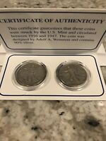 PUBLISHERS CLEARING HOUSE COLLECTIBLES WALKING LIBERTY SILVER HALVES 1943 -1944