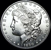 1890-S MORGAN DOLLAR SILVER US COIN ---- GEM BU ---- B453