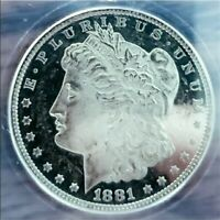 1881 O MORGAN SILVER DOLLAR COIN DMPL/DEEP CAMEO MONSTER MIRROR. 1I2