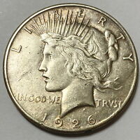 1926-S SAN FRANCISCO MINT SILVER PEACE DOLLAR, GREAT COIN,
