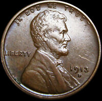 1913-D LINCOLN CENT WHEAT CENT ----  ---- B508