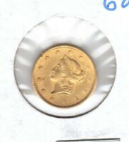 1851 XF ONE 1   DOLLAR GOLD COIN   NICE