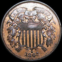 1864 TWO CENT PIECE 2CP      GEM BU   CONDITION      B680
