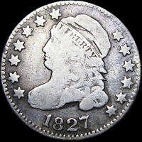 1827 CAPPED BUST DIME SILVER US COIN ---- TYPE COIN   ---- B908