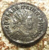VF  WITH MUCH SILVERING REMAINING  MAXIMIANUS RADIATE LUGDUNUM 291 292 AD