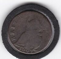 1697    FARTHING   COPPER  KING  WILLIAM  III  COIN
