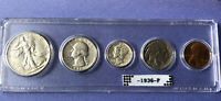 1936 P U.S. MINT COIN SET GREAT GIFT BETTER QUALITY COINS.