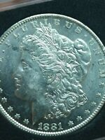 1881-O MORGAN SILVER DOLLAR BRILLIANT DOUBLED LEFT REVERSE VAM VARIETY COIN