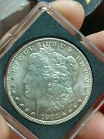 1901-O MORGAN SILVER ONE DOLLAR VARIETY VAM DOUBLED REVERSE LETTERING COIN