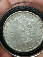 1896-P MORGAN SILVER ONE DOLLAR VAM-19 TOP 100 8 AND 9 IN DENTICLES VARIETY COIN