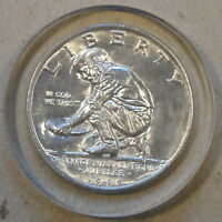 1925-S CALIFORNIA COMMEMORATIVE HALF GEMMY COIN ENCASED IN LUCITE WHAT A WAY T