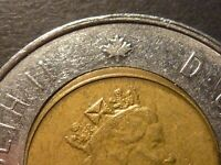 1996 TWO DOLLARS STRUCK WITH OFF CENTRE CORE CIRCULATED
