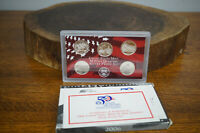 2006 SILVER QUARTER PROOF SET US MINT PLASTIC W BOX/COA 5 ST