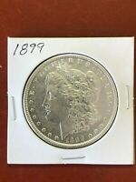 1899 MORGAN SILVER DOLLAR // AU DETAILS, OLD TIME CLEANING