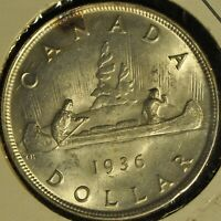 CANADA 1936 SILVER DOLLAR   BUYERS GRADE