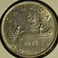 CANADA 1935 SILVER DOLLAR   BUYERS GRADE