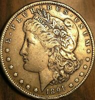 1891 USA MORGAN SILVER DOLLAR COIN