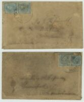 MR FANCY CANCEL CSA 7 PAIR TURNED COVER TIED CANTON GA & BRO