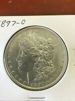 1897-O MORGAN SILVER DOLLAR//AU //OLD TIME CLEANING, W/ LUSTER