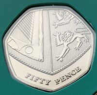2018 BUNC SHIELD 50P COIN BRILLIANT UNCIRCULATED FROM ROYAL