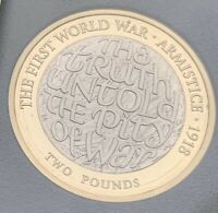 2018 PROOF WW1 ARMISTICE 2 COIN THE TRUTH UNTOLD THE PITY OF