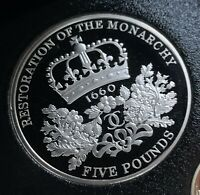 2010 PROOF RESTORATION OF THE MONARCHY 5 COIN 1660 FIVE POUN