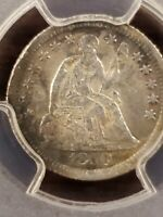 HARD TO FIND 1850 O SEATED LIBERTY HALF DIME  PCGS XF DETAIL