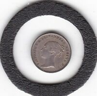 SHARP  1864   QUEEN  VICTORIA   MAUNDY   PENNY   M1D   COIN