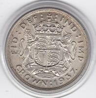 1937   KING  GEORGE  VI   LARGE   CROWN   5/     SILVER  COI