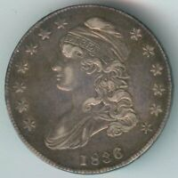1836 CAPPED BUST HALF DOLLAR   SILVER   EXTRA FINE