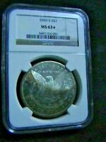 1880-S MORGAN SILVER DOLLAR NGC MINT STATE 63