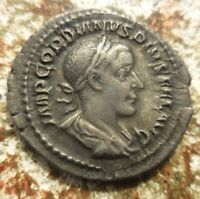 ABOUT EF FOR TYPE  GORDIAN III AD 238 244 SILVER DENARIUS RO