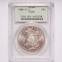 1900-O/CC NEW ORLEANS OVER CARSON CITY MORGAN SILVER DOLLAR PCGS MINT STATE 65