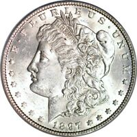 1897 $1 VAM 6A PITTED REVERSE MORGAN DOLLAR PCGS MINT STATE 61
