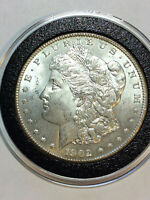 1902-O MORGAN VAM 30 NEAR DATE/DOUBLE PROFILE/2 OLIVE SILVER DOLLAR VARIETY COIN