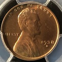1938-D 1C RB LINCOLN WHEAT ONE CENT  PCGS MINT STATE 65RB                  36067225