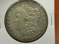 1892-S MORGAN SILVER DOLLAR HIGHER GRADE WITH SOME LUSTER